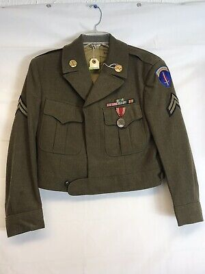 WW2 US Army Ike Jacket German Made Very Rare 38xs Excellent