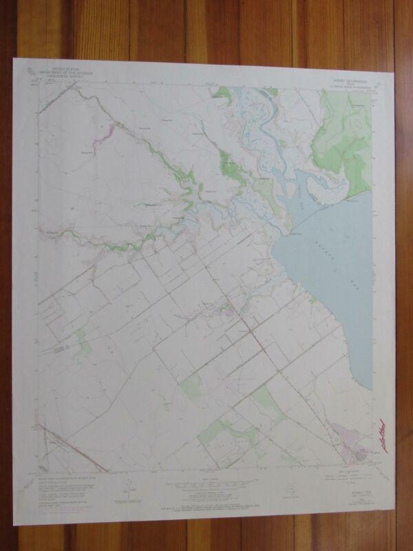 Kamey Texas 1976 Original Vintage USGS Topo Map