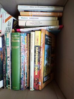 Box of Gardening books