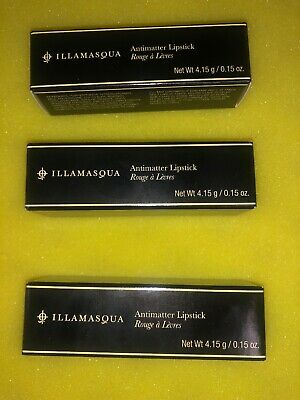 (3 Pack) ILLAMASQUA Antimatter Likpstick, Shades Cosmic, Midnight, Solar.