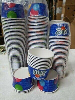 Juvale 50-Count Paper Ice Cream Sundae Cups, Yogurt Dessert Bowls,