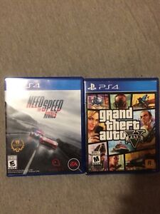 GTAV and Need for Speed Rivals PS4