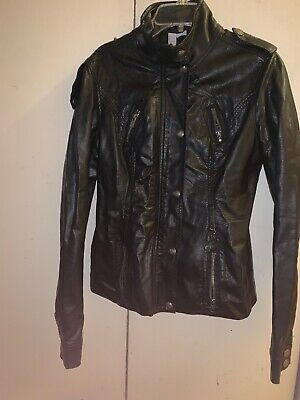 Max Rave Leather Jacket Small With Defect On Back Back Womens Leather Jacket