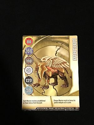 Bakugan Manion Character Metal Gate Card 10/48