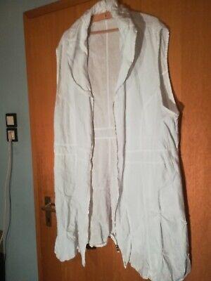 Damenkleid/Weste /Überwurf Gr. 3 , Leinen , La BASS; Weiß gebraucht kaufen  Viersen