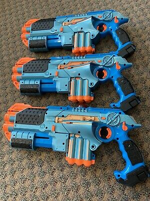 Tiger Lazer Tag Phoenix LTX Tagger 3 pack Lot Gold And Blue Guns