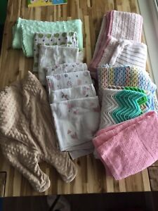 Muslin blankets and knit