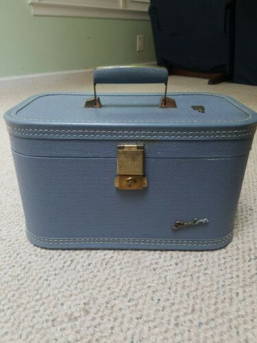 Vintage Starline Luggage Blue W Key 14 X 8.5 X 8.5 - $5.99