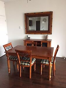 Gorgeous real wood 8 piece dining room set