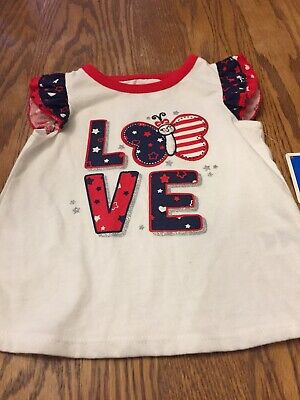 Shirt For Baby Girl, Size 3-6 Months, Patriotic Theme - Themes For Baby Girl