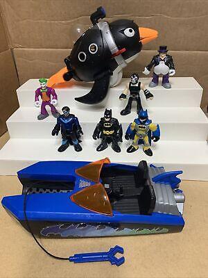 FP Imaginext DC Super Friends Batman Penguin Joker Bane Nighthawk Collectible