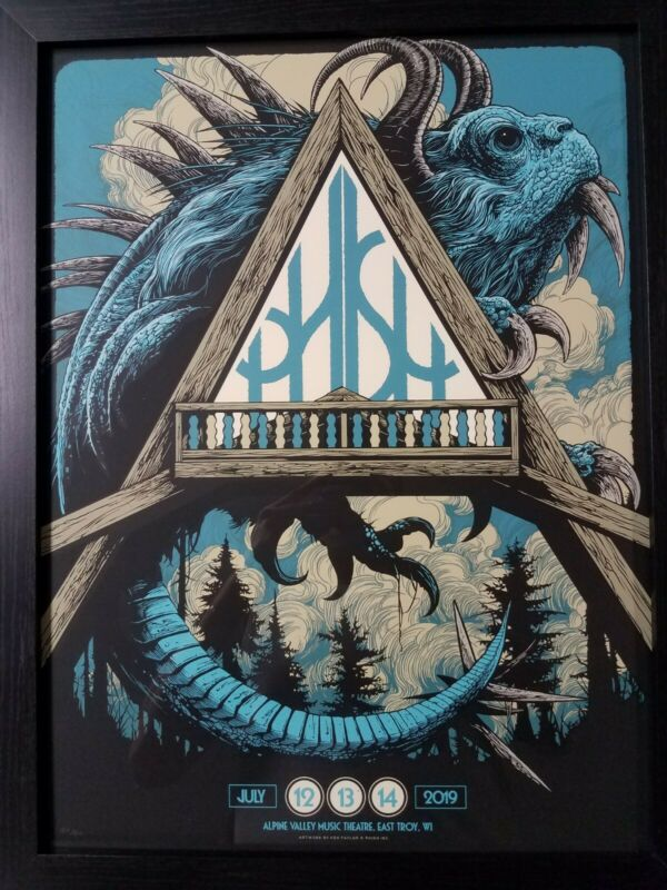 Phish Alpine Valley 2019 Offical Poster East Troy, WI - Ken Taylor Blue Edition