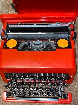 Vintage Olivetti Valentine 'S' Portable Red Typewriter All keys work