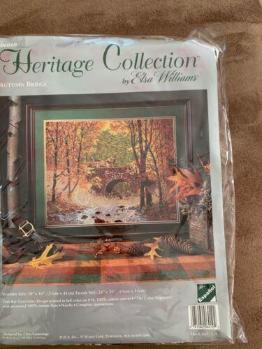 NEW! Vintage USA Heritage Collection Needlepoint Kit - AUTUMN BRIDGE #06010