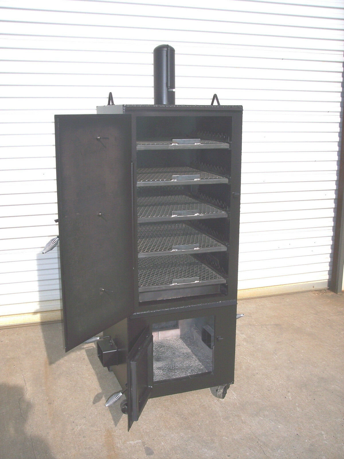 New Custom Vertical Patio Bbq Pit Smoker And Charcoal