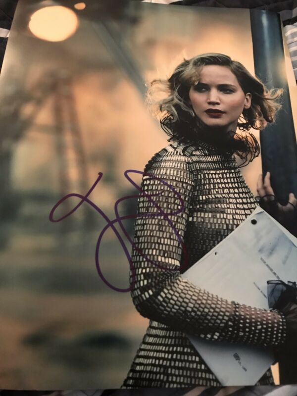 JENNIFER LAWRENCE SIGNED AUTOGRAPH 11x14 PHOTO VOGUE IN PERSON SEXY IN PERSON X5