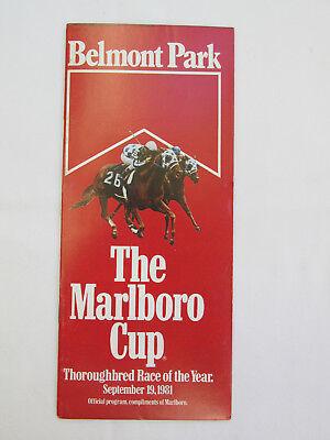 MARLBORO CUP 1981 BELMONT PARK - Belmont Cup
