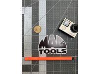 "12/"" Mac Tools Decal Sticker Tool Box Logo Window Mechanic ASE Technician"