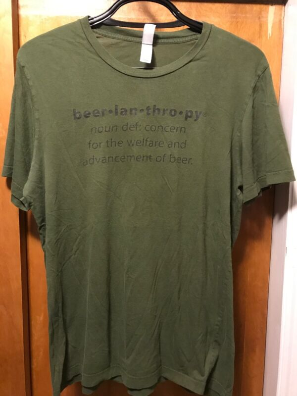 BEERLANTHROPY Asheville NC ~ Large ~ Bruisin Ales ~ 2 Sided Beer T Shirt