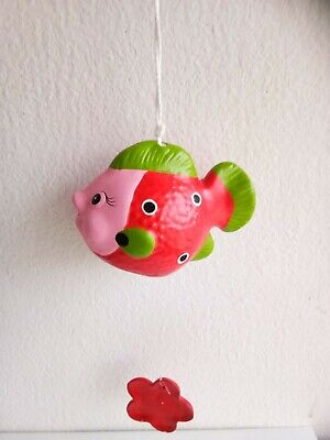 Red Fish Wind Chime Mobile kinetic Hanging Eco Friendly Baby Nursery Décor Art  Eco Wind Chimes