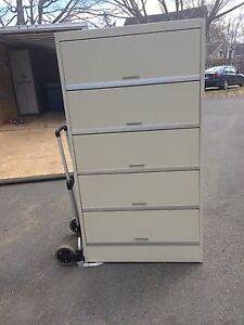 File Cabinet with Covered Shelves