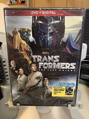 Transformers: The Last Knight NEW DVD + Digital Mark Wahlberg Michael Bay