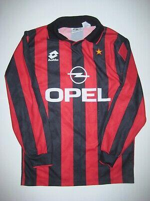 1994-1996 Lotto AC Milan Long Sleeve Kit Shirt Jersey Calcio Maglia Opel