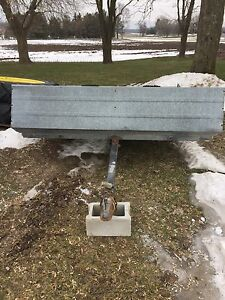 10 foot northtrail galvanized snowmobile trailer