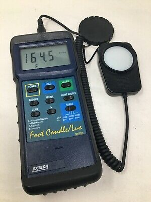 Extech 407026 Foot Candlelux Heavy Duty Light Meter With Stand