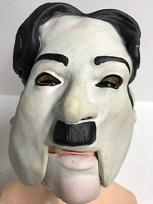 Vtg 1993 Bliss House Bubbles Inc Charlie Chaplin 2 Piece MASK HALLOWEEN MONSTER - Halloween Charlie Chaplin