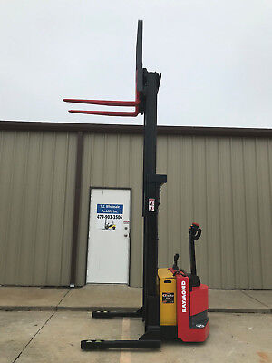 2010 Raymond Rss40 Walk Behind Forklift Straddle - Very Nice Double 128- 3750lb