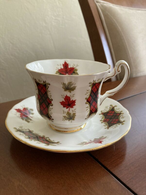 Royal Adderley Maple Leaf Tartan Cup Saucer