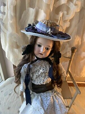 Straw Vintage Doll Hat For Your French Or German Bisque