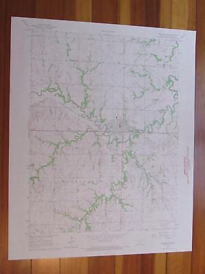 Washington Kansas 1967 Original Vintage USGS Topo Map