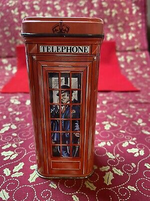 Bentley's Of London Tin Box Red Telephone Booth Man On Phone