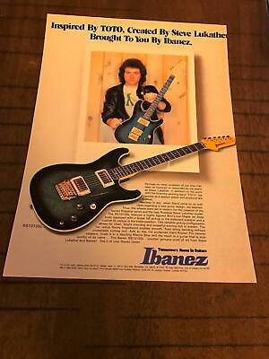 1983 VINTAGE 8X11 PRINT Ad FOR IBANEZ GUITARS WITH ARTIST STEVE LUKATHER TOTO for sale  Shipping to United Kingdom