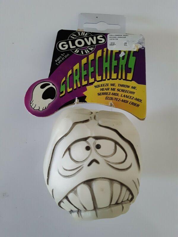 NWT VTG 90s Scary glow in the dark Screechers Halloween Monster Ball Sound maker