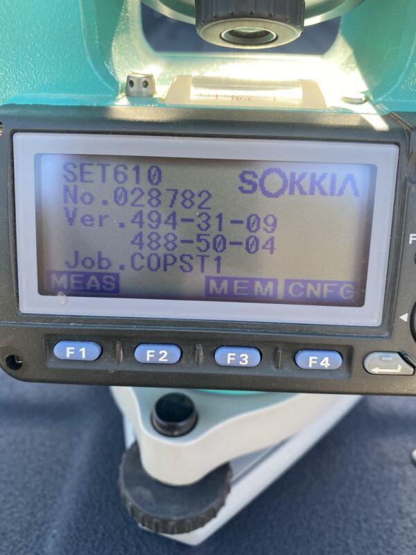 SOKKIA CONSTRUCTION ELECTRONIC TOTAL STATION SET610K EUC