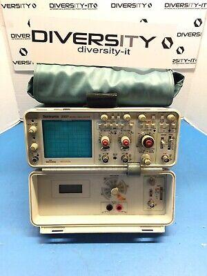 Tektronix 100mhz Dual Trace Portable Benchtop Oscilloscope 2337