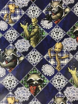 Guardians of the Galaxy Christmas Gift Wrapping Paper 60 sq ft roll wrap Groot