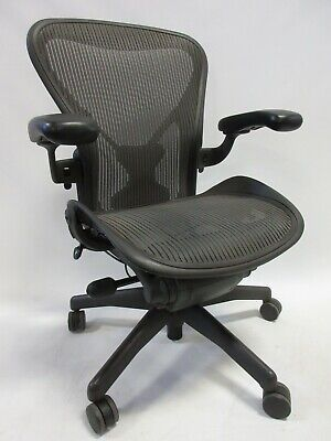 Herman Miller Aeron Chair - Size B Fully Adjustable Posture-fit In Graphitegrey