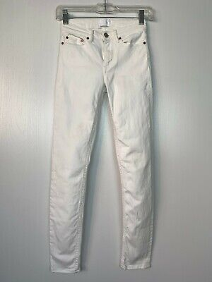 Acne Studios Skin 5 Vintage White Skinny Stretch Jeans Sz 24/28 (Tagged 23/32)