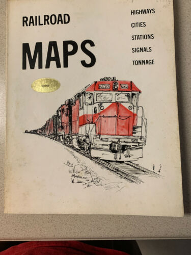 Railroad Maps, the South: Highways, Cities, Stations, Signals, Tonnage Book