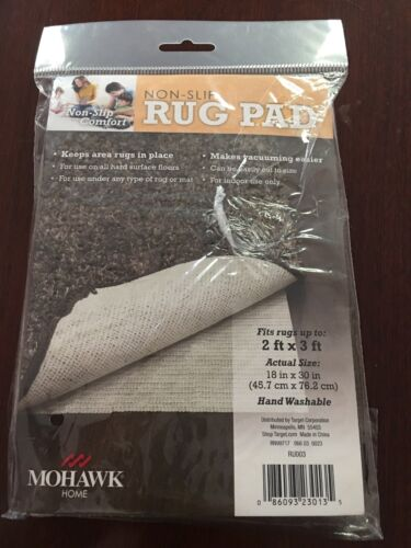 "Mohawk Home Non-Slip Rug Pad,18"" x 30"" UPC:086093230135"