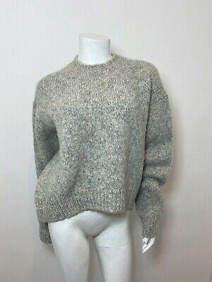 ACNE Studios Shira Alpaca Pullover in Grey Size XS $500