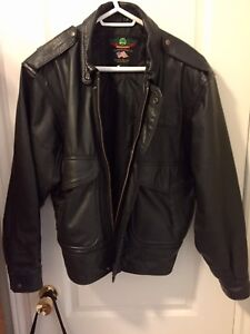 Pro aviator leather jacket PERRONE. US made. Large to XL