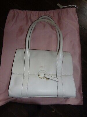 RADLEY Shoulder Bag White/ Ivory Leather complete with Dust Bag  Ivory White Leather