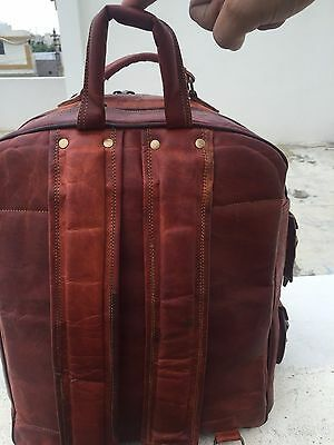Men's Leather Laptop Vintage Backpack Shoulder Messenger Bag Rucksack Sling Bag