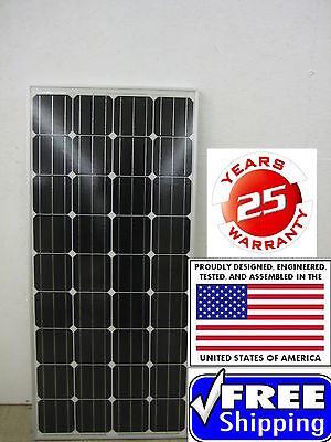 1- 175  Watt 12 Volt Battery Charger Solar Panel Off Grid RV Boat 175 watt full