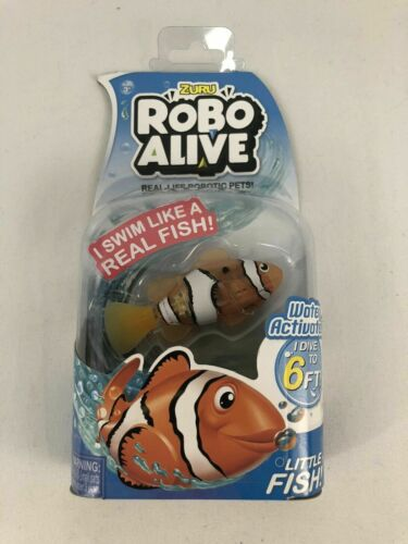 Zuru Robo Alive Clownfish Fish Robotic Swimming Water-activated AGES 3+ NEW